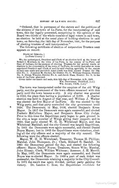 History of La Porte County, Indiana