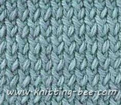 Twisted Stockinette Stitch Knitting Pattern