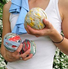 Love these upcycled juggling balls from Maya Made.