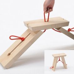Woodworking Projects Diy, Woodworking Furniture, Diy Wood Projects, Wood Crafts, Folding Furniture, Wood Furniture, Furniture Design, Craftsman Furniture, Bois Diy