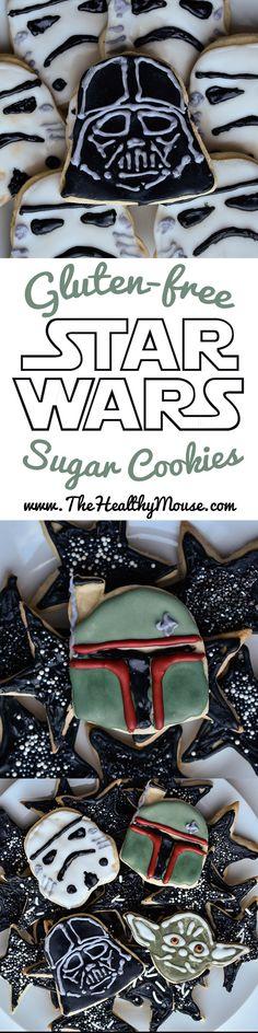Gluten-Free Star Wars Sugar Cookies. Star Wars dessert, gluten-free sugar cookies, gluten free dessert, Star Wars party ideas.