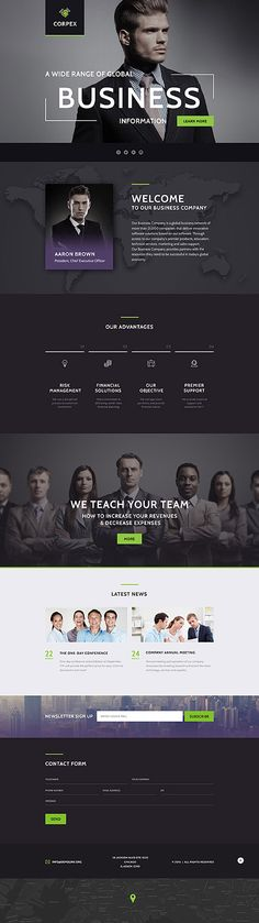 Template 58438 - Corpex Business  Responsive Landing Page Template