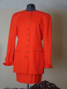 Suit / Christian Dior / Red Jacket and Skirt by EarlsBizarre, $125.00