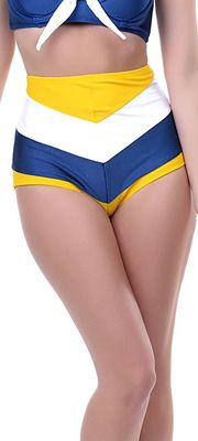 Navy, Yellow & White Striped Amelia Swimsuit Bottom