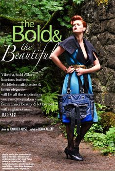 MIDGE F/W11: The Bold & the Beautiful Two-tone blue and black leather bow Medium tote bag (one-of-a-kind by the designer).
