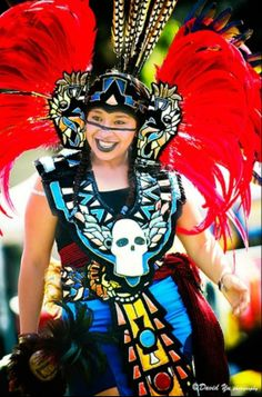 One of the stunning costumes at Cinco de Mayo festival, San Francisco.