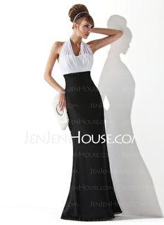 Evening Dresses - $106.99 - Empire Halter Floor-Length Chiffon Charmeuse Evening Dresses With Ruffle (017020321) http://jenjenhouse.com/Empire-Halter-Floor-length-Chiffon-Charmeuse-Evening-Dresses-With-Ruffle-017020321-g20321