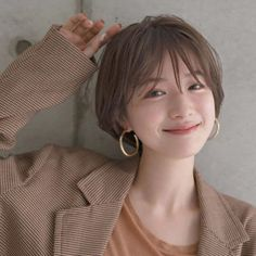 79 short bob hairstyles for the modern woman - Hairstyles Trends Girl Short Hair, Short Girls, Short Hair Cuts, Ulzzang Girl Fashion, Ulzzang Tomboy, Shot Hair Styles, Grunge Hair, Bob Hairstyles, Asian Short Hairstyles
