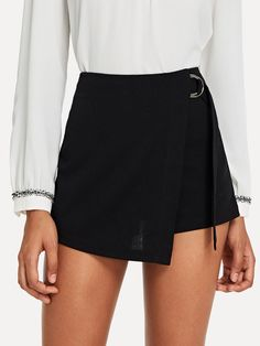 SheIn offers Wrap Solid Knot Shorts & more to fit your fashionable needs. Source by crazyshay dresses design Short Skirts, Short Dresses, Mini Skirts, Summer Dresses, Vacation Dresses, Skirt Outfits, Cute Outfits, Stylish Outfits, Type Of Pants