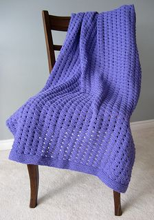 Waffle2-free knitting pattern-baby blanket