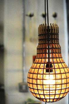wooden lamp. Not bad at all.