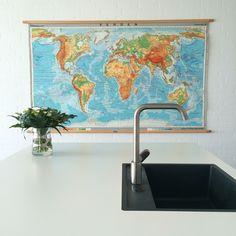 Verdenskort - Worldmap - retro