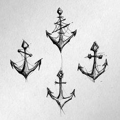Quiero tatuarlas ⚓️ #chile #santiago #tatuajechileno #sketch #tattoodesign #sketchtattoo #ancla #anchor