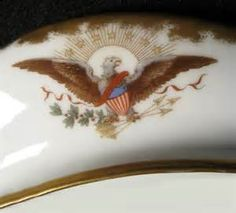 The Hayes Service is known as one of the most important, imaginative, and extravagant porcelain service ever produced. Negotiations of the new dinner service began in 1879, in that a new president took office. By a chance meeting of Mrs. Hayes in the White House conservatory, Theodore R. Davis, an artist for Harper's Weekly, suggested it have only American flora and fauna, with each piece a different decoration. She liked the idea so much that she asked that Davis assume lead of the designs.
