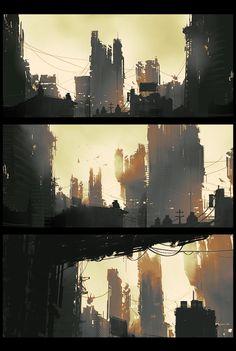Cityscape, Dmitry Vishnevsky on ArtStation at https://www.artstation.com/artwork/cityscape-886a2e82-cfb2-442b-9de2-ad662af5561e