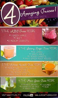 Juicing Recipes. ♥