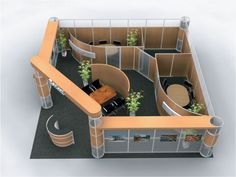 DM-0201 Trade Show Exhibit for when you need some private meeting space at your booth, from Communication One Exhibits
