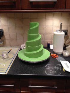 Fondant Spiral Cake Tutorial