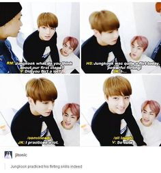 Hey Jungkook. If you need more practice, I can sacrifice my time for you. Just throwing that out there.