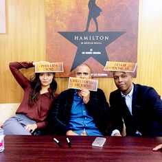 Phillipa Soo, Christopher Jackson, Leslie Odom Jr. Actors and Actress from Hamilton being cute