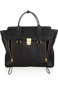 If you're going to spend a lot on a bag, try to opt for a basic black/neutral bag that will never go out of style!  We've had our eye on this 3.1 Phillip Limtrapeze bag for a while, how cute is it? // http://www.shannongail.com/2013/10/07/mixing-highs-and-lows/