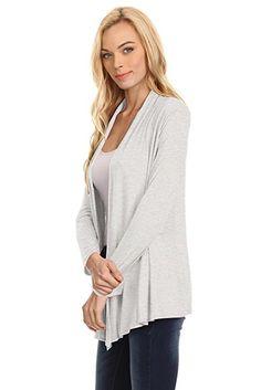 Womens Open Drape Cardigan Reg and Plus Size Cardigan Sweater Long Sleeves - USA at Amazon Women's Clothing store: