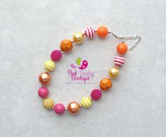 A personal favorite from my Etsy shop https://www.etsy.com/listing/242313596/baby-girl-chunky-necklace-pink-lemonadeBaby Girl Chunky Necklace, Pink Lemonade Necklace, You are my sunshine Bubblegum Necklace, Baby Necklace, Sunshine Birthday party Cake smash