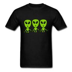 3 Greys T-Shirt #Tshirt #Aliens #GreyAlien #Extraterrestrial Classic-cut standard weight t-shirt for men, 100% pre-shrunk cotton, Brand: Gildan