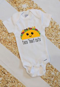 Taco 'Bout Cute | Baby Bodysuit | Funny Bodysuit | Made To Order | Baby Shower Gift | Gender Neutral