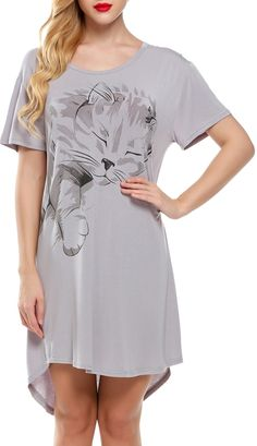 Gray sleeping kitty nightshirt
