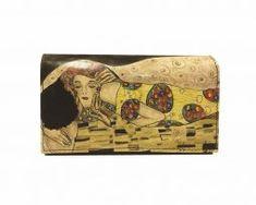 Ručne maľovaná kožená peňaženka 8542 inšpirovaná motívom Gustav Klimt Gustav Klimt