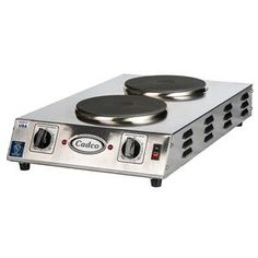 Delightful Cadco Double Cast Iron Burner Front To Back Electric Hotplate   CDR 2CFB