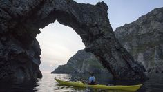 Sea arch at the Slieve League Cliffs, County Donegal