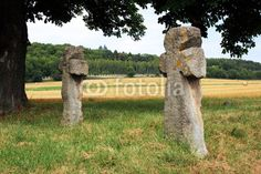 Atonement crosses, stone crosses or also murder crosses near Tonndorf in the administrative district Weimar / Thuringia.