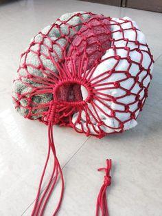 Paracord multipurpose drawstring bag #knot #weave #macrame