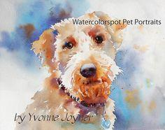 Pet Portrait  Watercolor print by Watercolorstop on Etsy, $45.00