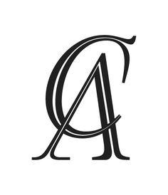 Logos 2014 by Andrei Robu, via Behance Monogram Design, Lettering Design, Logo Design, Ac Logo, New Images Hd, Special Tattoos, Clever Logo, Stylist Tattoos, Wedding Logos