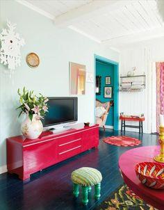 Wohnzimmer Amerikanischer Wohnstil Bunte Farben Kronleuchter Ausgefallen |  Wohnideen Wohnzimmer | Pinterest