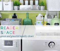 IHeart Organizing: Reader Space: Green and Graceful Laundry Closet
