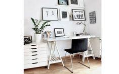 Dois cavaletes e uma tábua são suficientes para criar uma mesa de trabalho