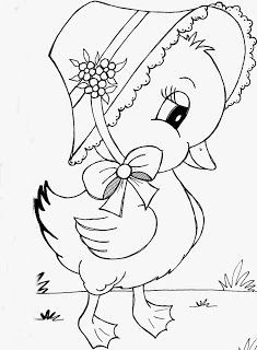 Easter Drawings, Art Drawings For Kids, Art Drawings Sketches Simple, Bird Drawings, Colorful Drawings, Cartoon Drawings, Cute Drawings, Animal Drawings, Puppy Coloring Pages