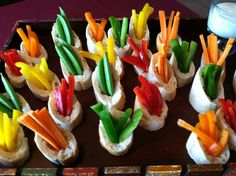 Crudite Shots from Sagra Catering