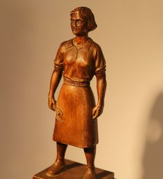 Ralston Purina Sculpture by Carl. Museum Collection, Woodcarving, Art Pieces, Sculpture, Statue, Artwork, Artist, Women, Work Of Art