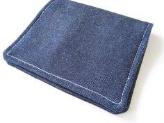 Dark Denim Card Holder for Business / Gift / Credit Cards (6.00 USD) by EliteElishi