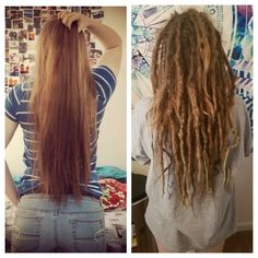 I did extensions because I didn't want to lose the length of my hair when starting my #dreadlockjourney