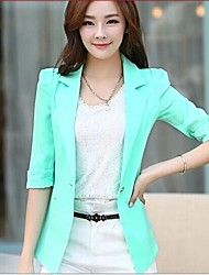Women's Bodycon/Casual/Lace Opaque/Medium ¾ Sleeve Regular Blazer ( Lace/Polyester )