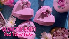 Geometric Heart, Velvet Cake, Diamond Heart, Valentines Day, Good Food, How To Make, Valentine's Day Diy, Healthy Food, Valentine Words