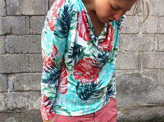 DIY-Anleitung: Fledermausshirt mit Wasserfallausschnitt nähen via DaWanda.com