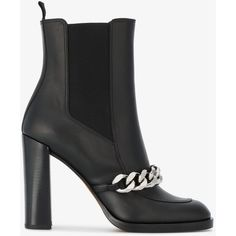 Givenchy Leather Biker 105 Ankle Boots (39 465 UAH) ❤ liked on Polyvore featuring shoes, boots, ankle booties, black, short boots, black leather boots, black ankle boots, black bootie and black leather bootie