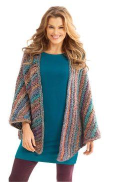 Châle triangulaire Necks Best Thing avec Homespun de Lion Brand (Crochet)